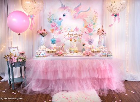 Baby Unicorn 1st Birthday Party Unicornio Fiesta De