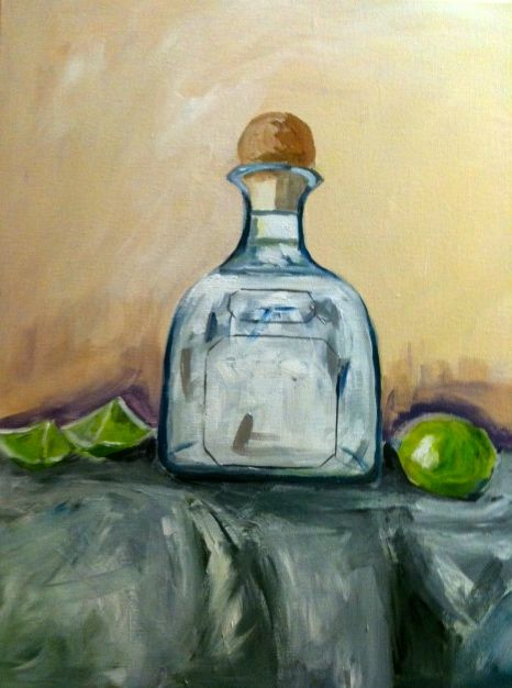 Tequila Bottle Painting Bottle Painting Diy Painting Painting