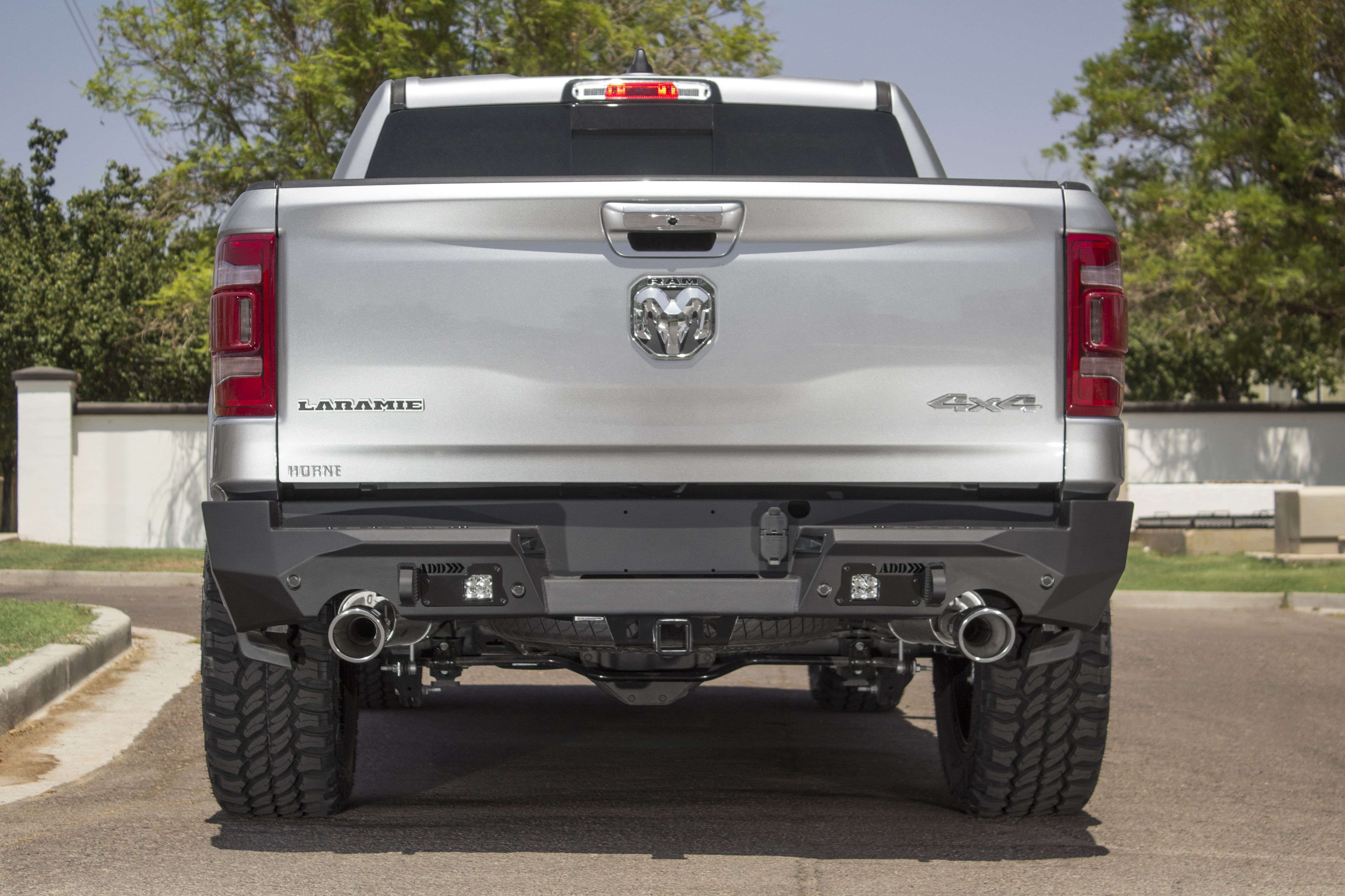 2019 Current Ram 1500 Stealth Fighter Rear Bumper Sleek Design Fits Tight To The Rear Of The Truck Styling Compliments Factory Body L Ram 1500 Ram Dodge Ram