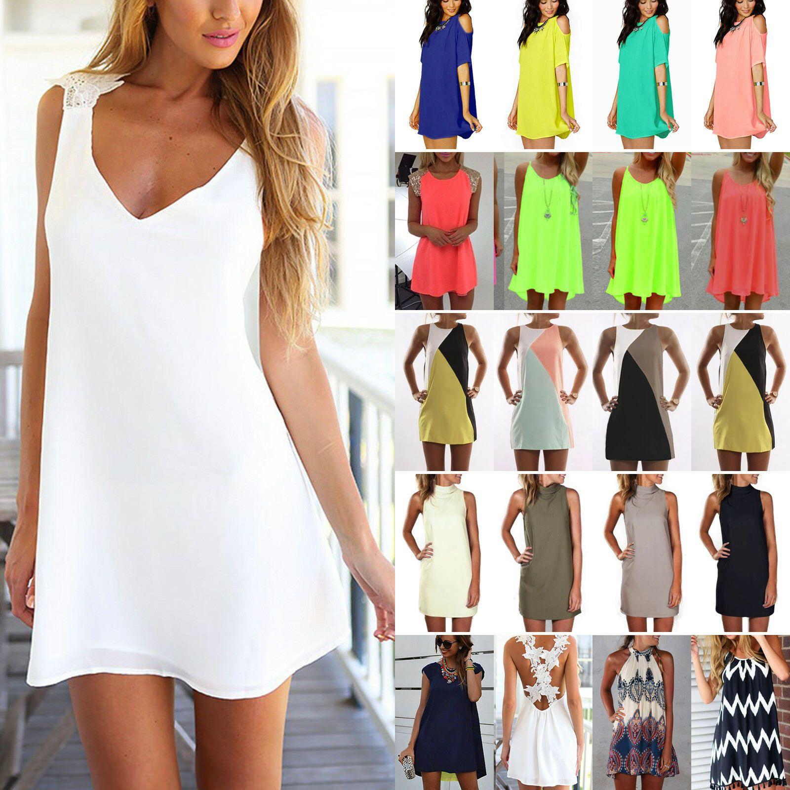 Damen Sommer Partykleid Minikleid Tunika Longshirt Bluse Top Kleider Strandkleid Kleider Ideas Of Kleider Kleider In 2020 Partykleid Strandkleid Kleider Damen