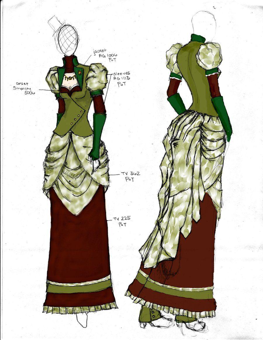 Victorian/Steampunk Fashion Design 2 by angerbunnie.deviantart.com on @deviantART