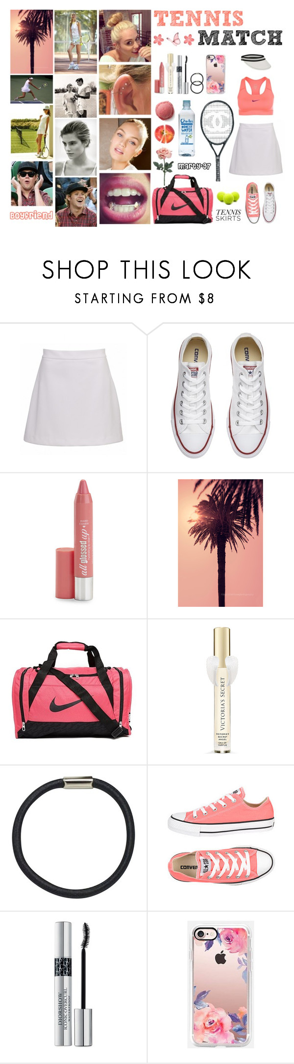 Tennis Match! by marty-97 on Polyvore featuring moda, NIKE, Converse, Casetify, Hershesons, Christian Dior, Hard Candy, Victoria's Secret, WALL and Chanel