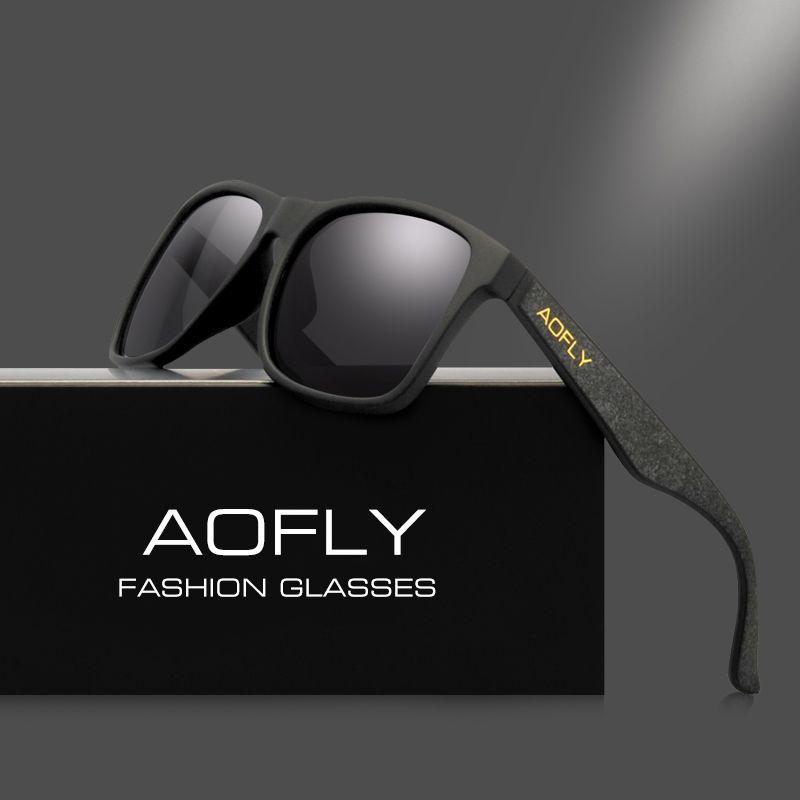 8a61cf700e449 AOFLY Vintage Retro Polarized Sunglasses Men Coating Mirror Driving Sun  Glasses Polaroid - US  19.42