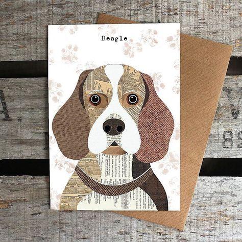 Beagle dog greetings card