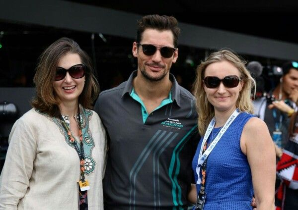 Great to see @DGandyOfficial supporting @JaguarRacing this weekend @FIAformulaE #FormulaEHK #JaguarElectrifies (as does Mr Gandy!)