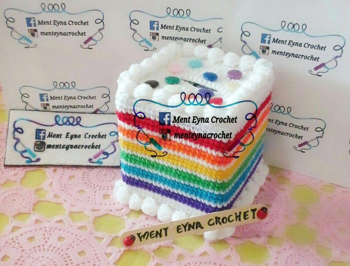 How To Make a Rainbow Birthday Cake | Pola, Kotak, Rajutan