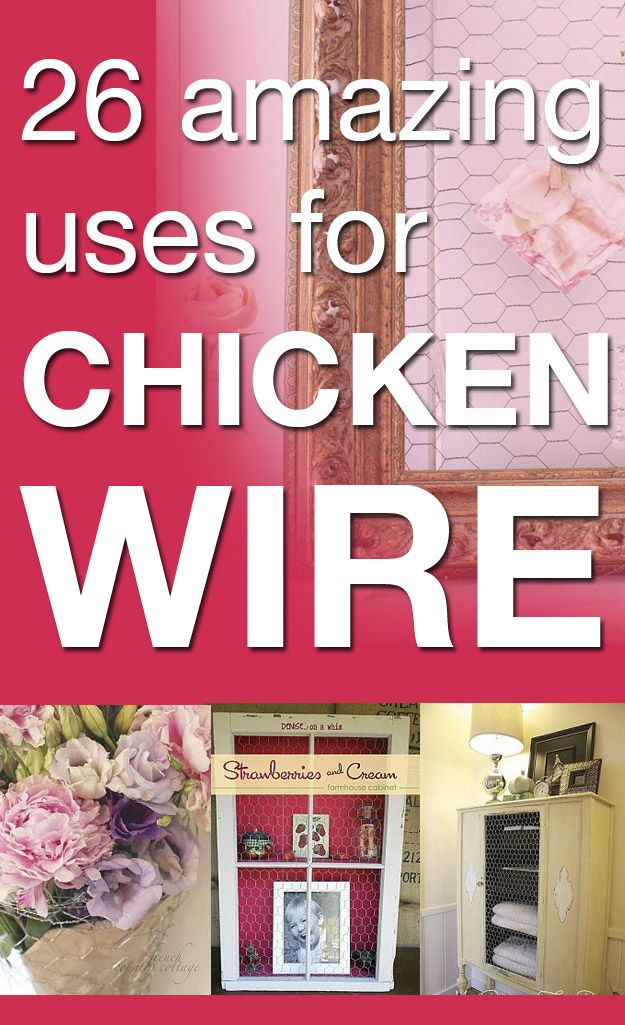 Chicken Wire Ideas Idea Box by Susan @ Rustic ReDiscovered | DIY