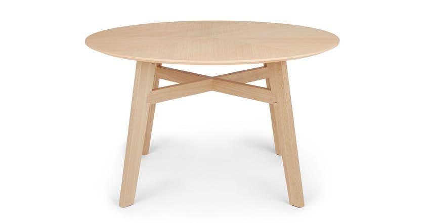 Ventu Matte Walnut Round Dining Table Midcentury Modern Dining