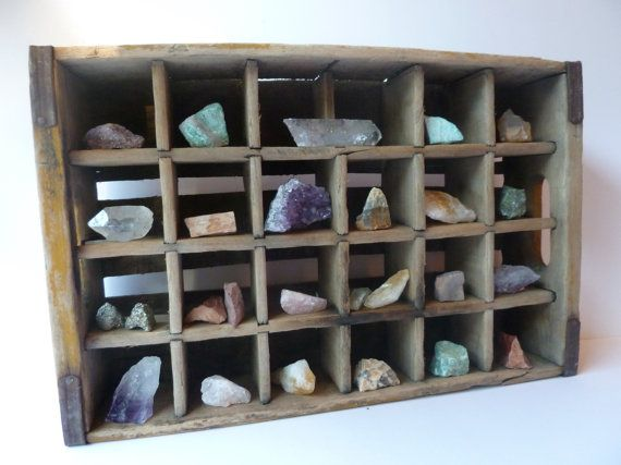 crystal and rock collection, rustic home decor, crystal collection