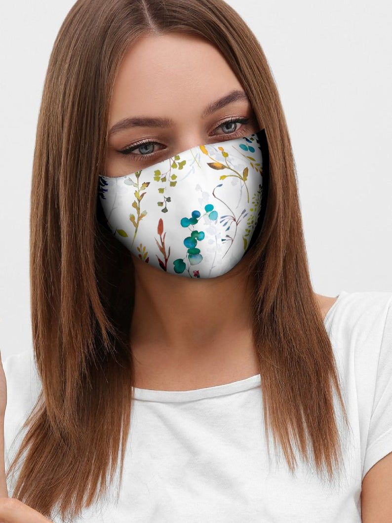Download Free Pin On Cotton Face Mask With Filter Pocket And Nose Wire PSD Mockup Template