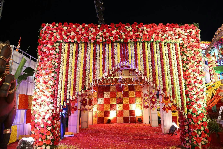 Wedding stage decoration delhi  Pin by Roseann Rajan on interiors  Pinterest  Flower decorations