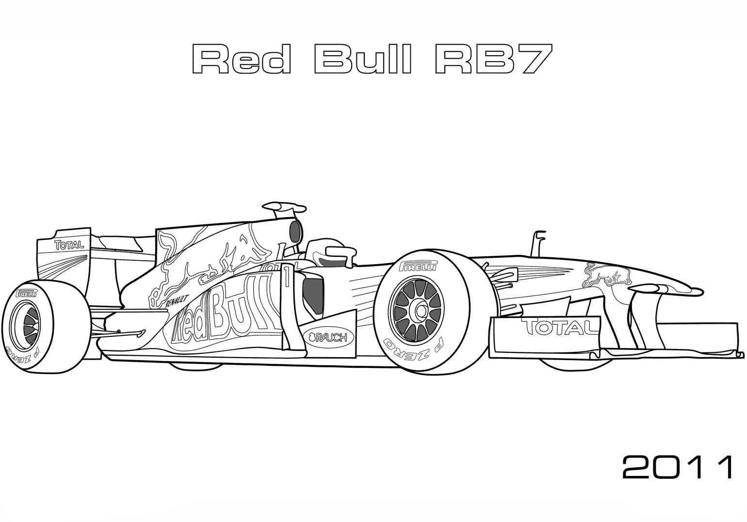 Red Bull Rb7 Formula 1 Racing Car Coloring Page Race Car Coloring Pages Cars Coloring Pages Coloring Pages