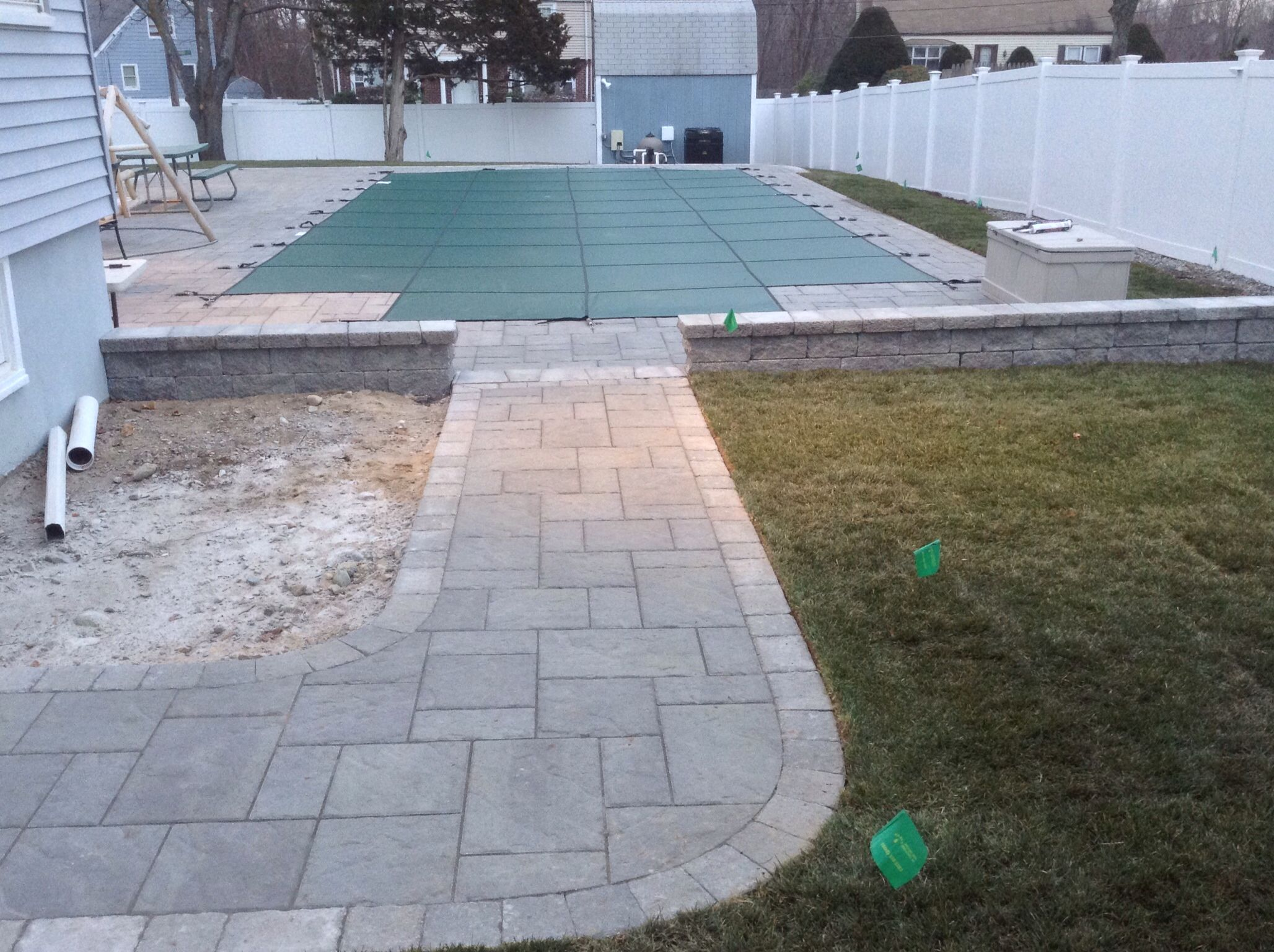 Walkway To Pool Patio