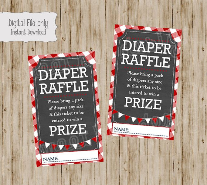 Baby Q Baby Shower Diaper Raffle Ticket, BabyQ Baby Shower, BBQ Baby Diaper  Raffle