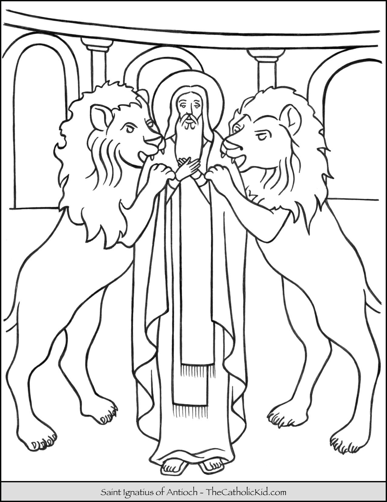 Saint Ignatius Of Antioch Coloring Page Thecatholickid Com