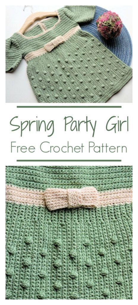 Photo of Spring Party Girl Dress Free Crochet Pattern