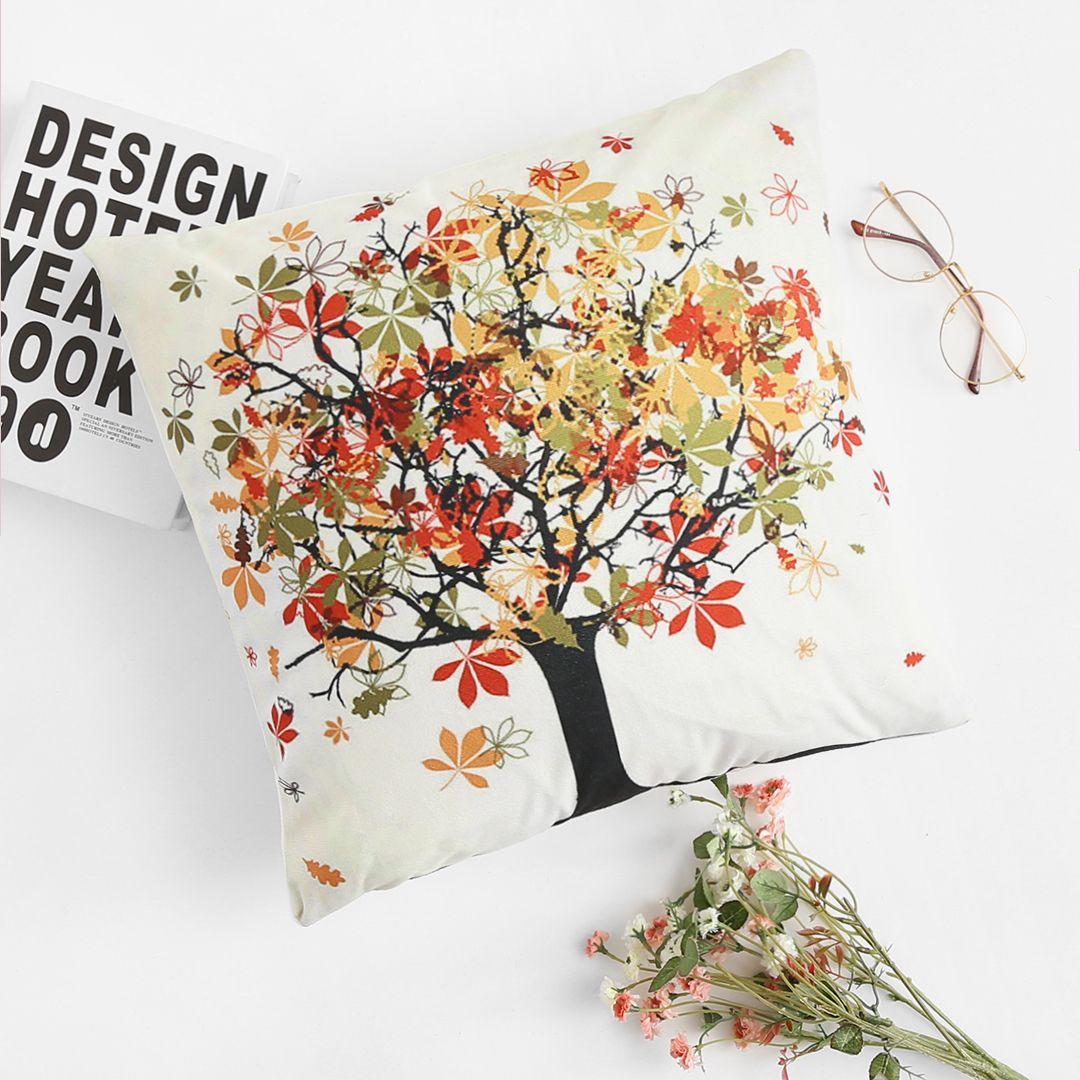 Mix & Match Tree Print Pillowcase Cover