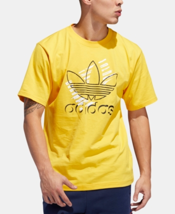 adidas Originals Men's Logo T-Shirt - Gold/Black | Man logo ...