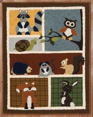 Applique Woodland Quilt Pattern Pattern Includes Kira