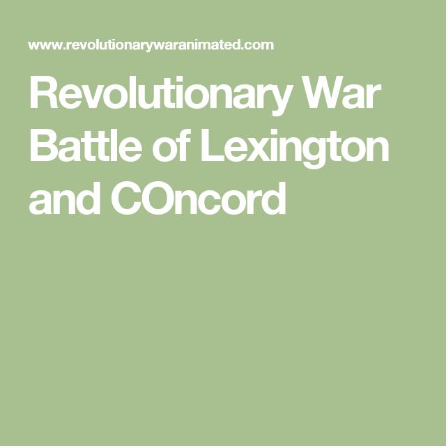 Revolutionary War Battle Of Lexington And COncord