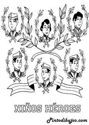 Dibujo De Los Niños Heroes Para Colorear 13 De Septiembre Para