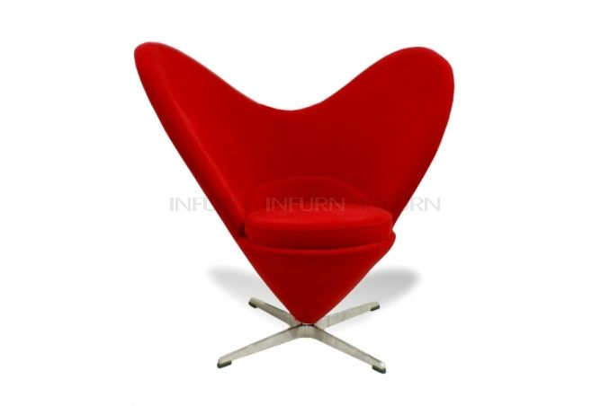 Heart Chair Inspired By Verner Panton Infurn Com Mid Century