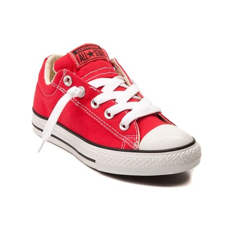Slide into premium chucks comfort with the new Street Sneaker from Converse! The Converse Street Sneaker sports a low top design with canvas upper, elastic tongue goring for optional lacing, padded tongue and collar for cushion and comfort, classic rubber cap-toe, and signature Converse rubber sole for slip-resisting traction. Only available online at JourneysKidz.com!    Manufacturer style 637819F
