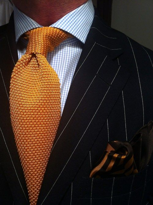 knitted tie - Yellow & Orange Tom Ford FXDBsme4
