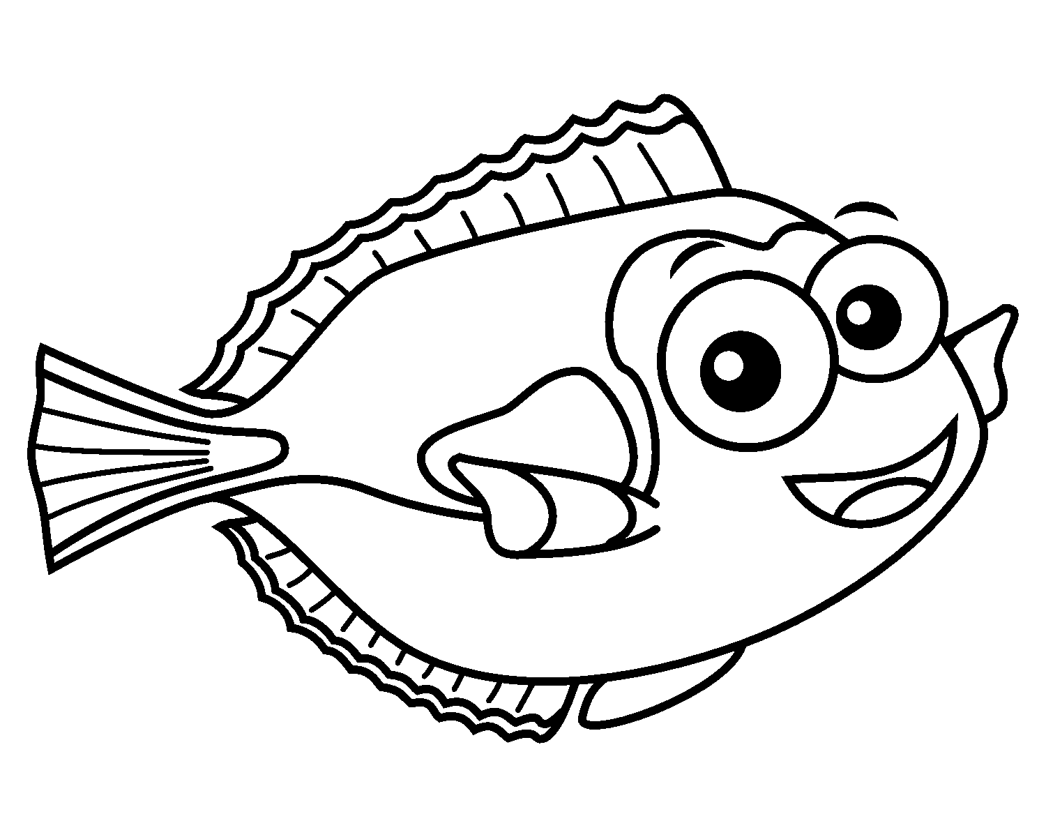 Fish Online Coloring For Kids With Online Tools In