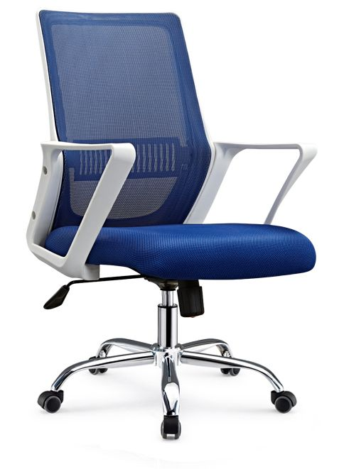 Lecong High Quality Task Staff Swivel Computer Seats Medium Back Office Chair With Castors Mesh