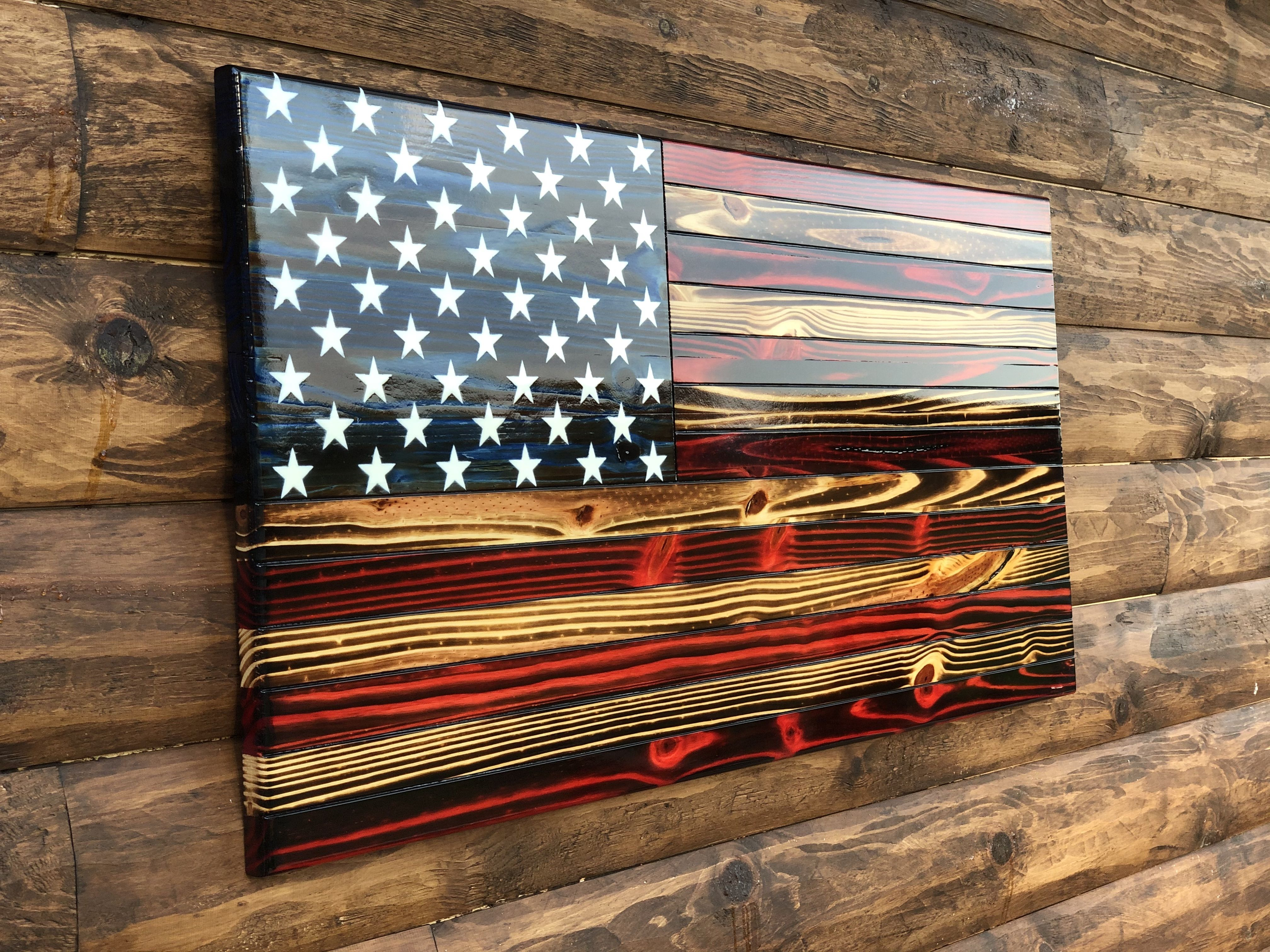 Charred rustic american flag rustic american flag flag