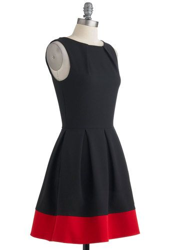 Luck Be a Lady Dress in Black and Red | Mod Retro Vintage Dresses | ModCloth.com