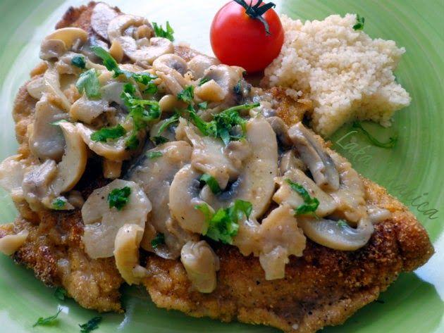 Brzi odrezak sa šampinjonima :: Quick pork schnitzels with button mushrooms   Laka kuharica - Easy Cook