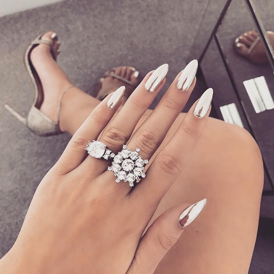 Pin by Amira Douglas on Nails | Pinterest | Nail nail, Metallic ...