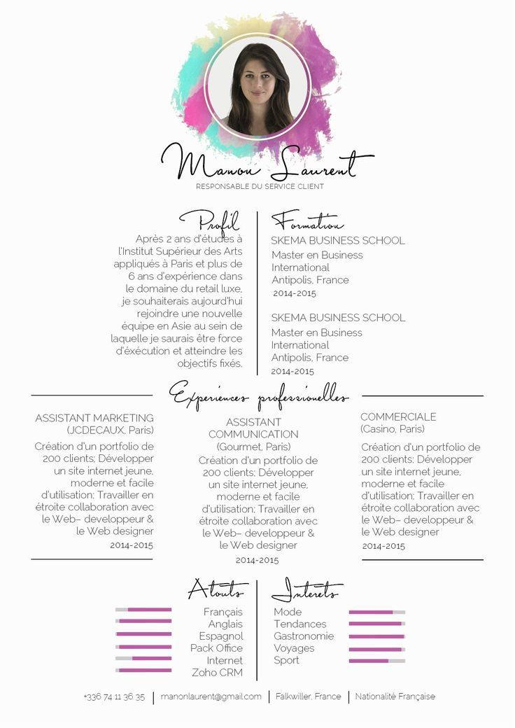 business infographic   cv originaux