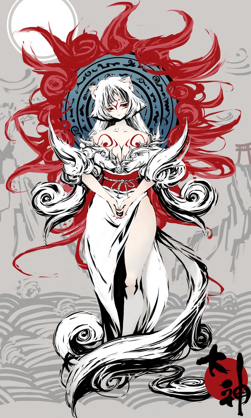 Okami Amaterasu Human Form ANIME ARTILLUSTRATIONS Pinterest