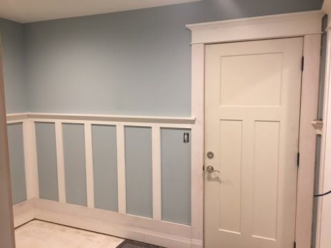 How I Installed Craftsman Style Wainscoting In My Mudroom X Post From R Woodworking Handmade Crafts Wainscoting Styles Diy Wainscoting Wainscoting Height