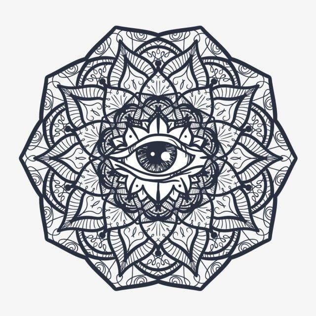 Mystical Mandala With Eye Eye Symbol Illustration Png And Vector With Transparent Background For Free Download Third Eye Tattoos Mandala Tattoo Mandala Tattoo Design