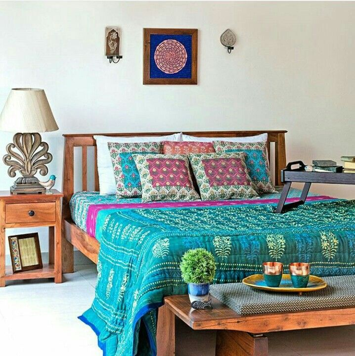 Indian Bedroom. Simple Yet Elegant