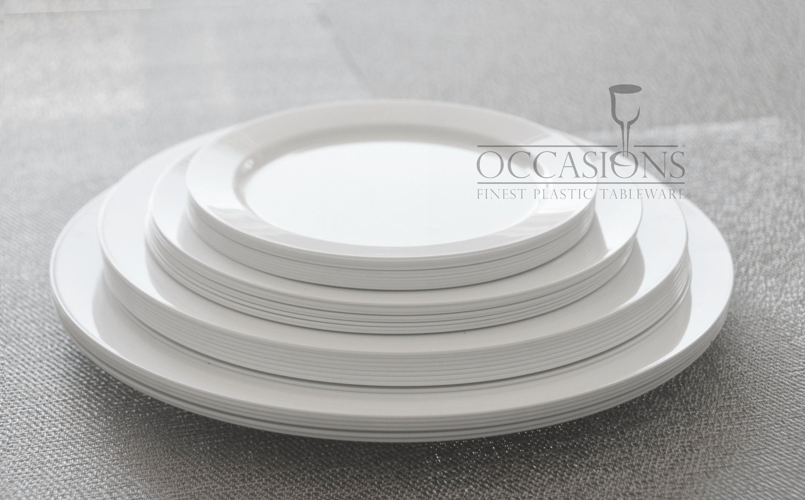 Bulk Plastic China Disposable Plates Wholesale White Catering