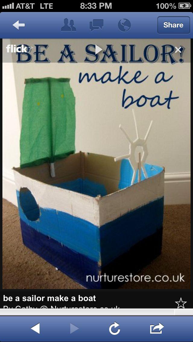 Fun stuff | Make a boat, Boat crafts, Pirate activities
