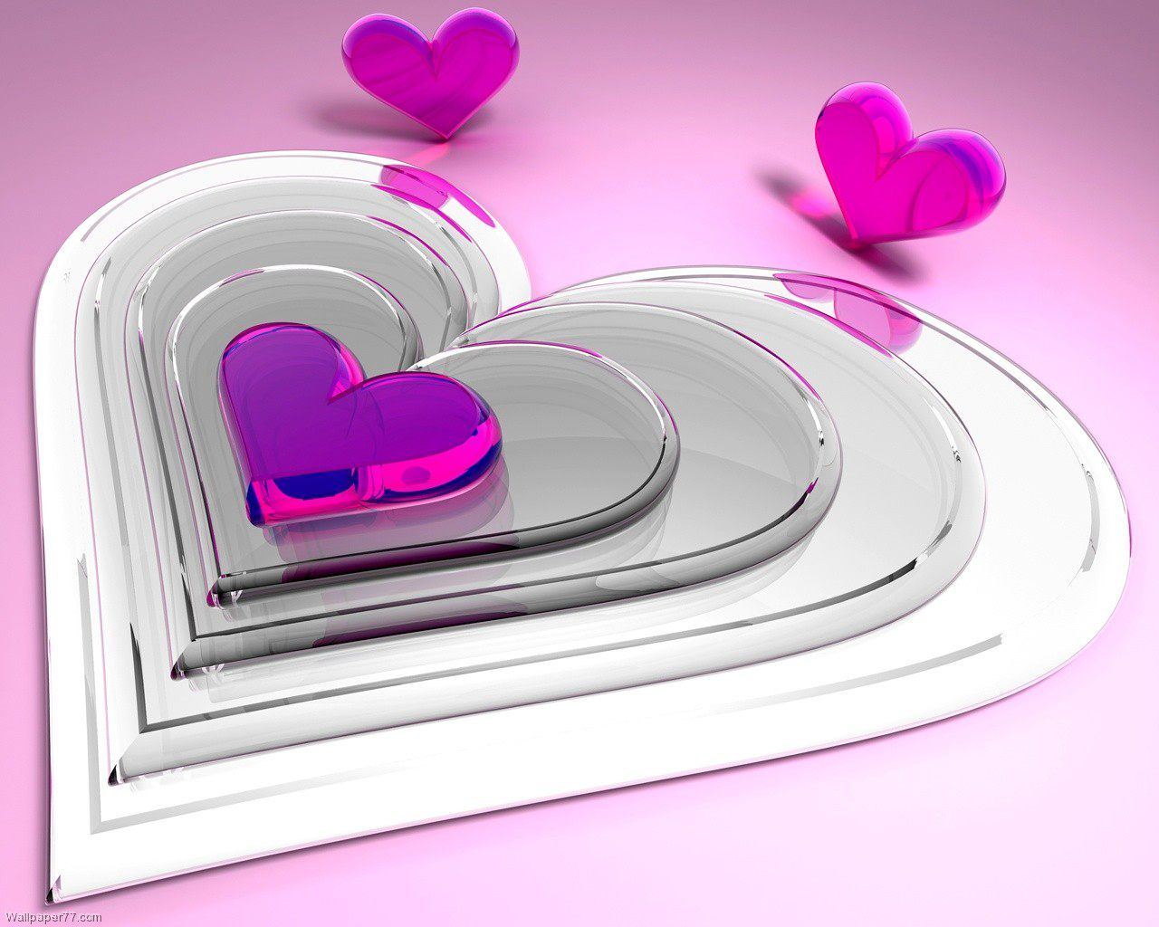 3d Heart Love Wallpapers 4852 Wallpaper: 3d Pretty Heart HD Wallpapers
