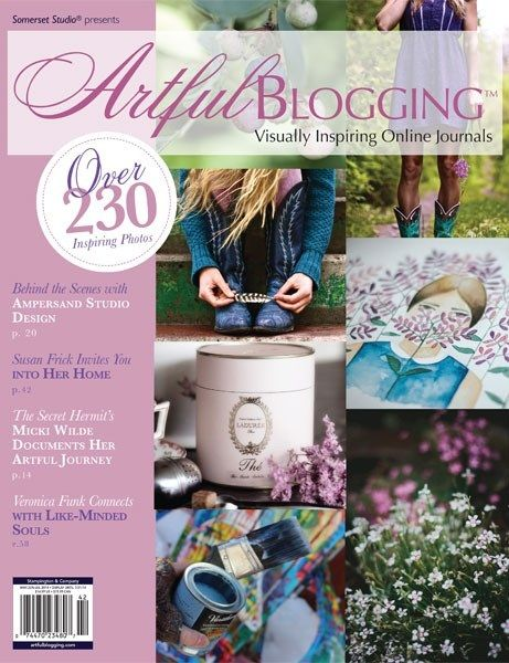 See work from design connoisseurs Morgan Georgie and Carrie Kiefer of Ampersand Design Studio, whimsical mixed-media artist Micki Wilde of The Secret Hermit, and city girl Leney Breeden of A Girl Name Leney in Artful Blogging Summer 2014.