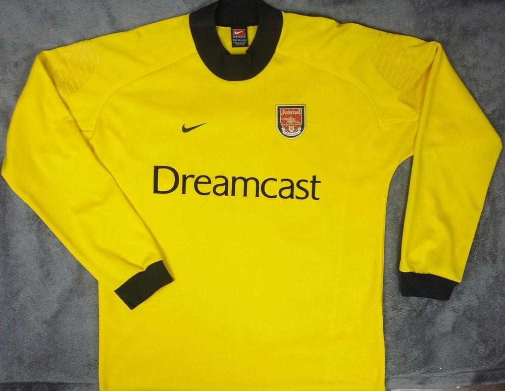 competitive price 79fbf 87ddb eBay #Sponsored Nike ARSENAL 2000/02 Goalkeeper Soccer ...