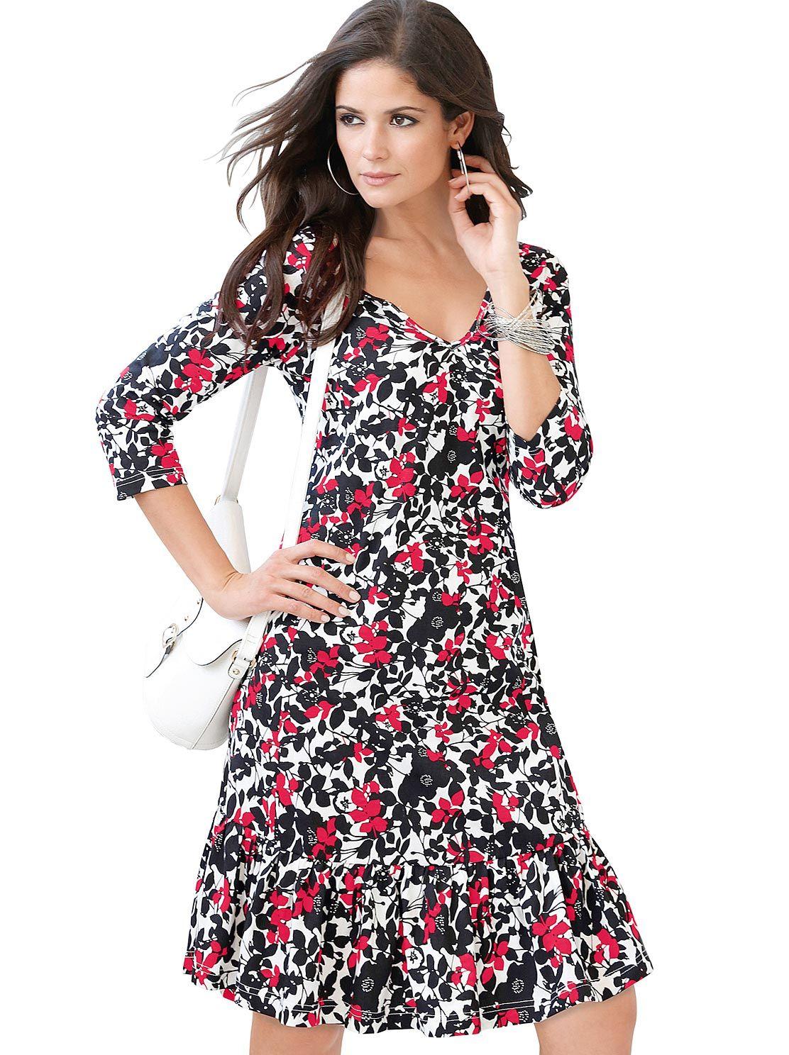 0c4020d1a23091 Jersey-Kleid in kirsche-schwarz-bedruckt 29