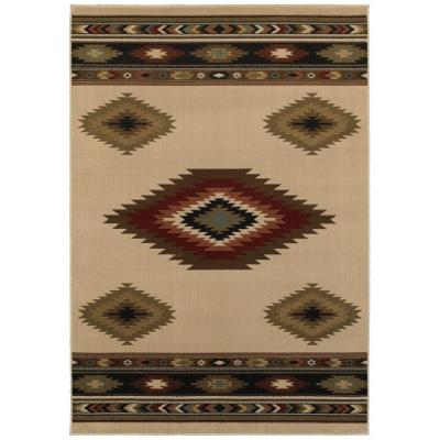 Home Decorators Collection Aztec Ivory 10 Ft X 12 Ft Area Rug