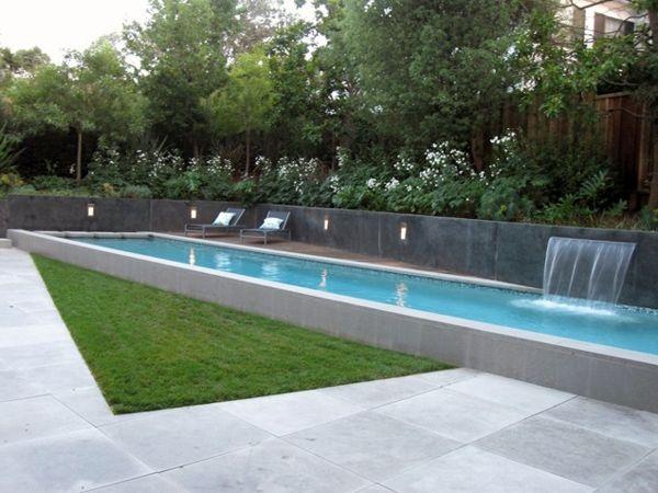 Entzuckend 101 Bilder Von Pool Im Garten   Landschaft Schwimmbecken Pool Im Garten  Wasserfall