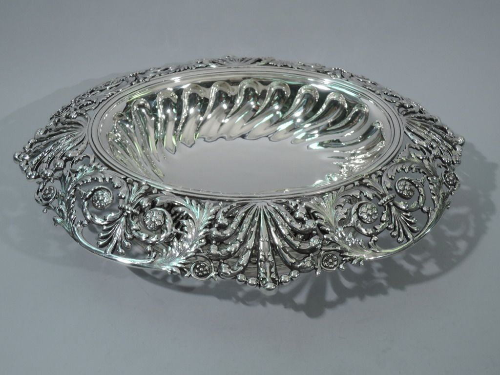 Oval Sterling Antique Centerpiece Silver