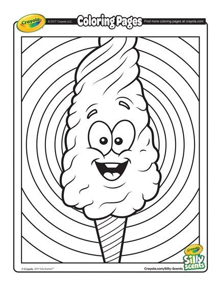 Cotton Candy Candy Coloring Pages Crayola Coloring Pages Coloring Pages