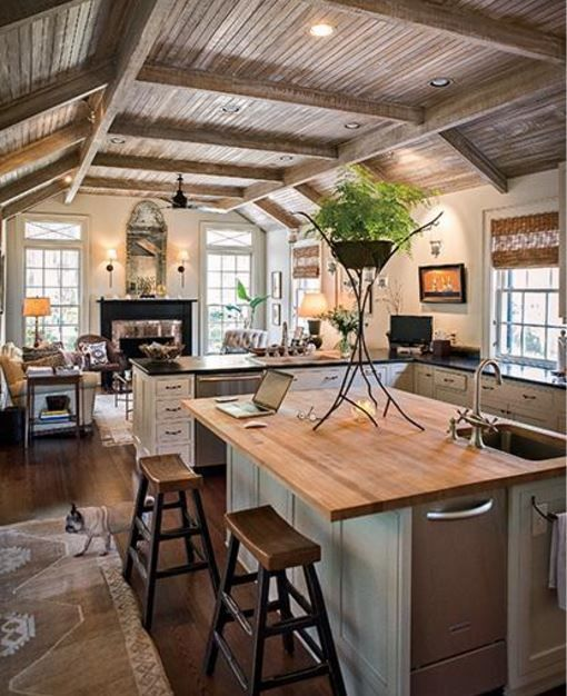 Lovely 13 Awesome Barndominium Designs To Inspire You. Rustic Galley KitchenKitchen  Hearth RoomBarn KitchenKitchen DecorCozy ...